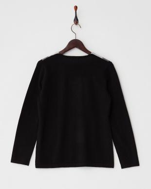 ブラック  Vネック切り替えセーター見る