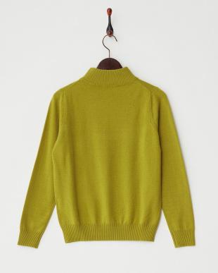 キウイ  リブ切り替えハイネックセーター見る