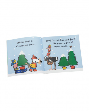 洋書シール付き絵本「Maisy's Christmas Sticker Book」見る