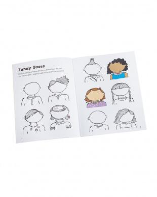洋書シール付知育ノート「Doodling for Girls-STICK and play」見る