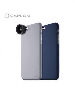 ネイビー  CAM.ON SMART SLIM CASE for iPhone6/6S スマホケース&レンズ セット見る