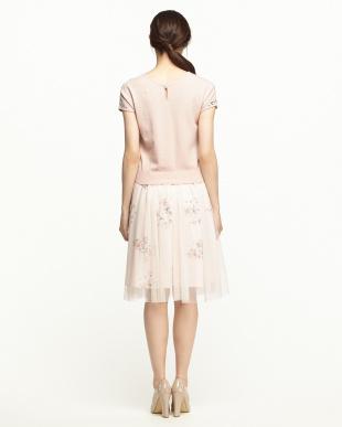 グレイッシュピンク  PO+FlowerチュールスカートSet見る