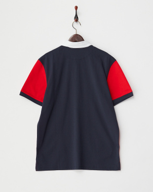 VICTORY RED COLOR BLOCK POLO見る
