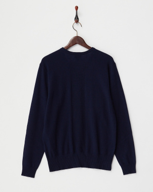 NAVY V NECK SWEATER見る