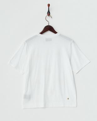 ホワイト 別注チョウモチーフTシャツ見る