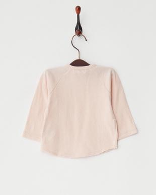 ピンク  60/-接結 ベビーL/S Tシャツ見る
