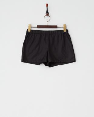 ブラック  起毛ボックスプリーツスカート見る