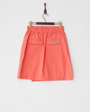 ピンク ラップ型レインスカート見る