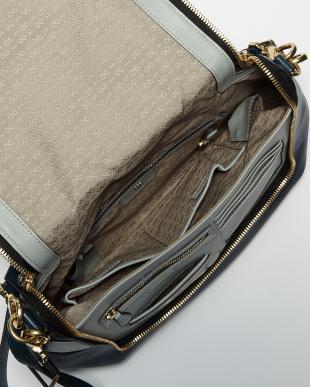 Dark Petrol Maxi Zip Satchel Arrow Bag見る