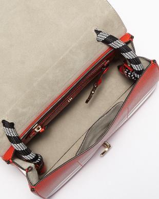 Flame Red Satchel Stripes Bag見る