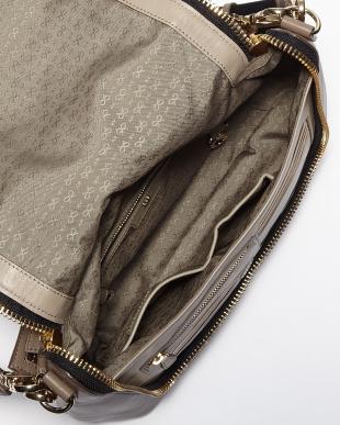 Medium Grey High Shine Leather Maxi Zip Satchel Bag見る