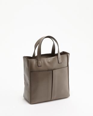 Medium Grey  Nevis Raw Zipped Mini Bag見る