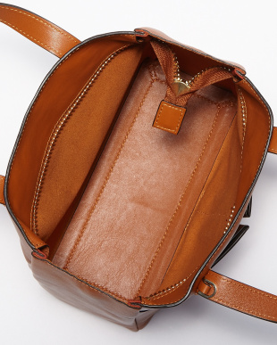 Orange  Nevis Raw Zipped Mini Bag見る