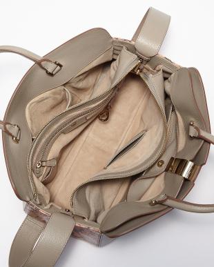 Light Grey Python Albion Top Handle Bag見る