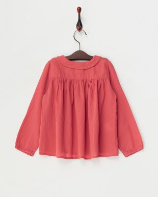 ピンク フリル衿ブラウス|KIDS見る