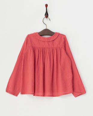 ピンク  フリル衿ブラウス|JUNIOR見る
