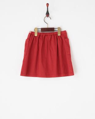 レッド  L字ポケットスカート|JUNIOR見る