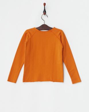オレンジ  裏起毛長袖プリントトップス|JUNIOR見る