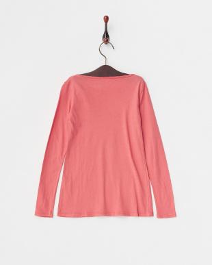 ピンク  フロント切替Tシャツ見る