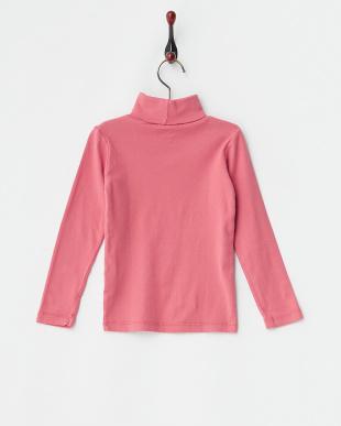ピンク  タートルネック長袖トップス見る