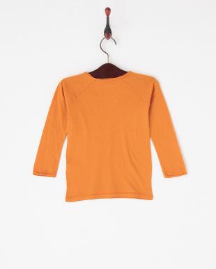 オレンジ  Vガゼット長袖Tシャツ|KIDS見る