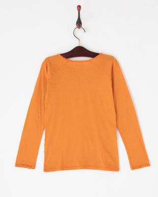 オレンジ  Vガゼット長袖Tシャツ|JUNIOR見る