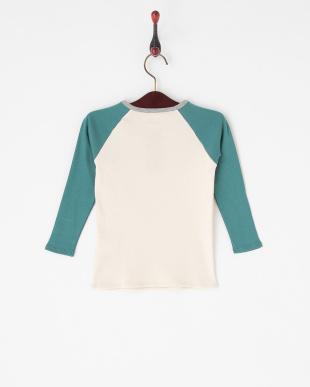 ブルー  切り替え長袖Tシャツ|KIDS見る