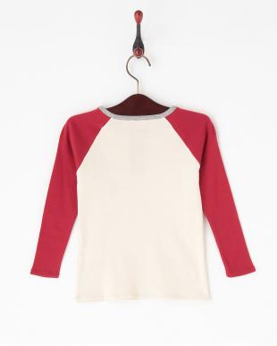 レッド  切り替え長袖Tシャツ|KIDS見る