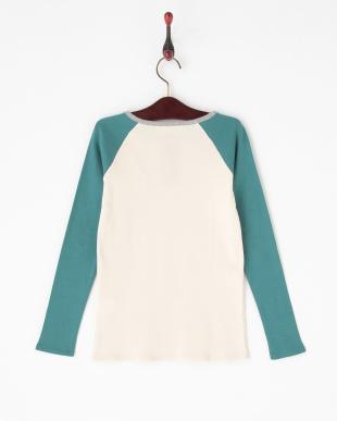 ブルー  切り替え長袖Tシャツ|JUNIOR見る