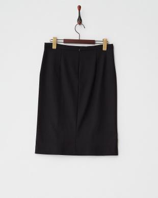 ブラック 切り替えストレッチスカート見る