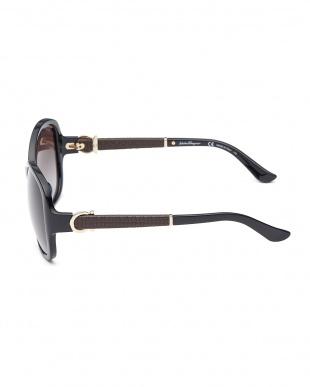 ブラック ガンチーニ 異素材切り替えサングラス見る