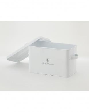 ホワイト  ペティボヌール ストックボックス2個セット見る