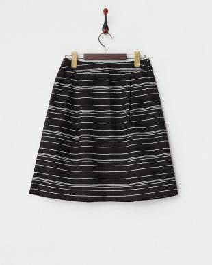 ブラック  コードボーダースカート見る
