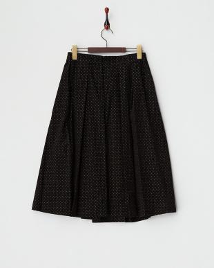 ブラック  コーデュロイピンドットPtスカート見る