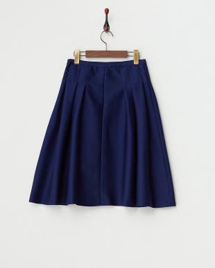 ブルー サイドタックフレアスカート見る