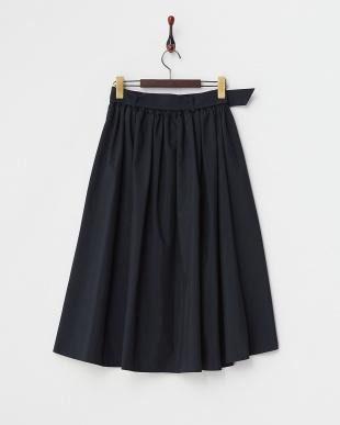 ネイビー  フイッシュテールギャザースカート見る