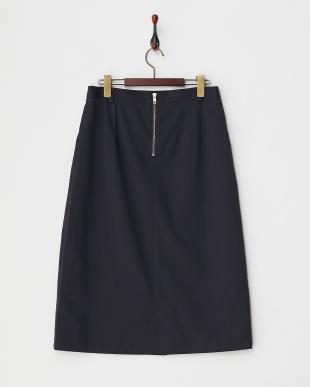 ネイビー  セミタイトスカート見る