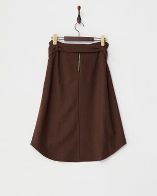 ブラウン  ラウンドヘムスカート見る
