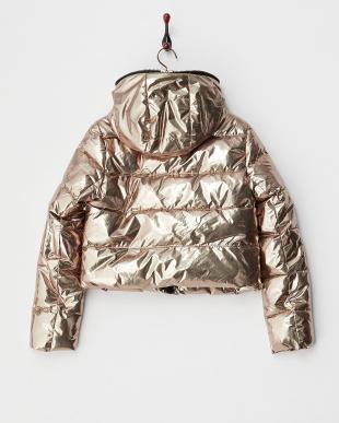ゴールド  メタリック ショート丈中綿入りジャケット見る