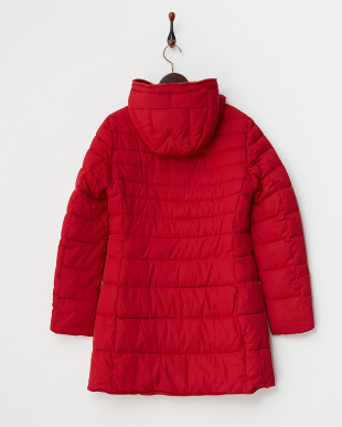 レッド  フード付き 中綿入りコート見る