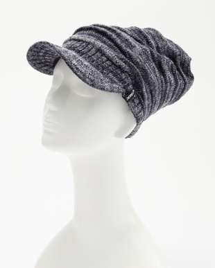 ネイビー  Gradation Brim Beanie│MEN見る