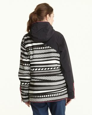 ブラックホワイト  Geometric Mixture Jacket見る