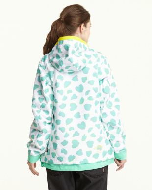 アクアブルー  Heart Dalmatian Jacket見る