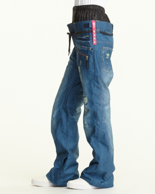 ブルー2  Girls Real Denim Print Pt見る