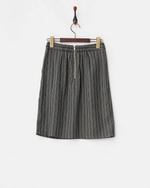 グレー  2ndline/ストライプ柄コクーンスカート見る