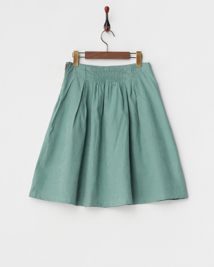 グリーン  2ndline/サイドジップタックフレアスカート見る