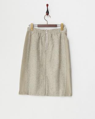 グレー 2ndline/ツィード脇リブスカート見る
