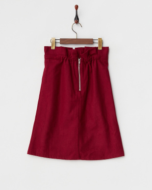ダークレッド  2ndline/ウエストタックリボンタイトスカート見る