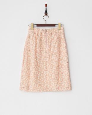 ピンク×ベージュ2ndline/レースタイトスカート見る