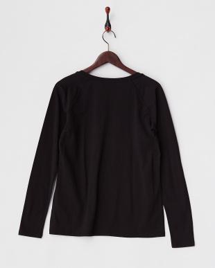 ブラック DIECI ラメプリント長袖Tシャツ見る